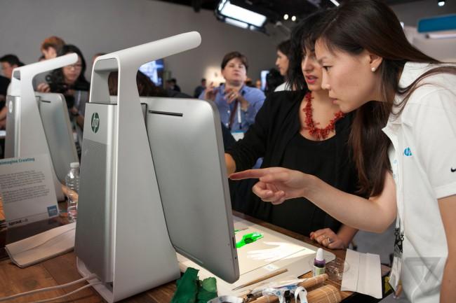 Фото - Необычный компьютер HP смешивает реальности